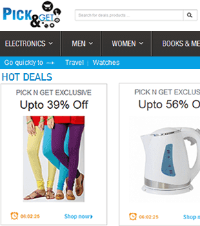Ecommerce Website - Pick N Get